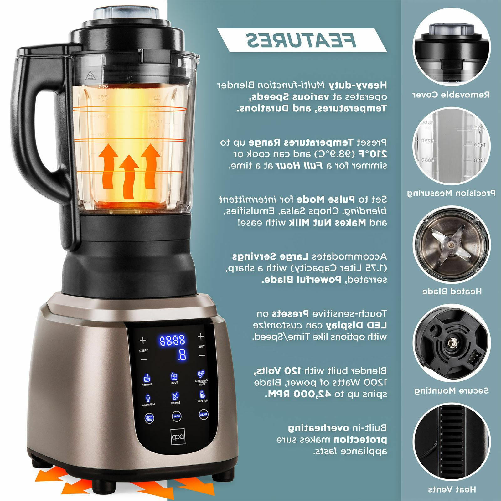 1200W Professional Kitchen Blender Cold Hot