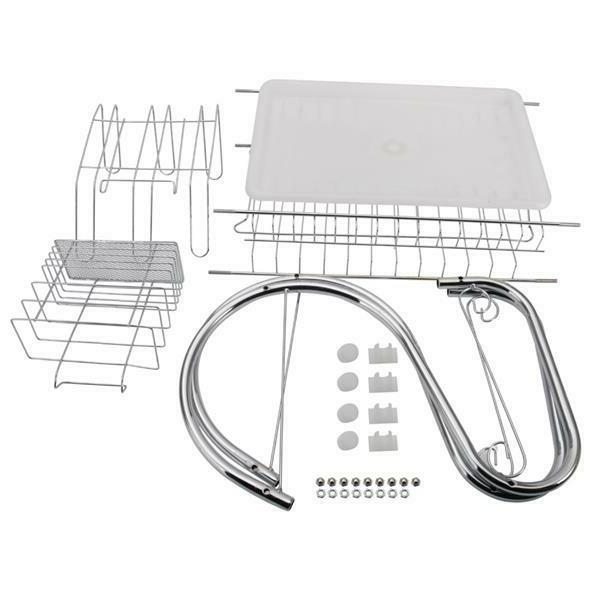 2-Tier Over Sink Drying Rack Stainless Kitchen