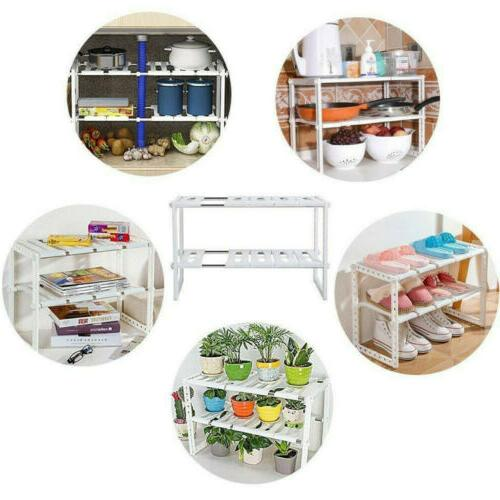 2-Tier Storage Expandable Holder Under