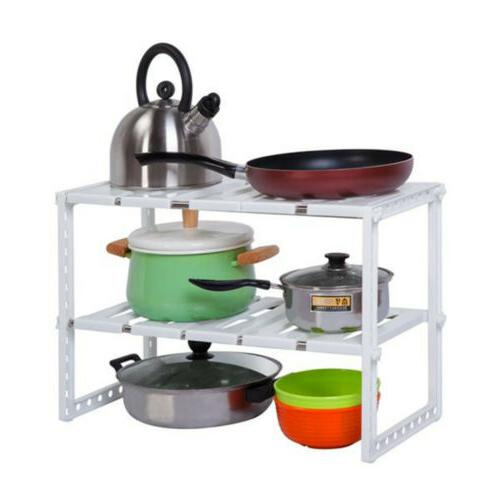 2 tier sink rack organizer storage expandable