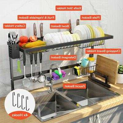 2 tier stainless steel dish drying rack