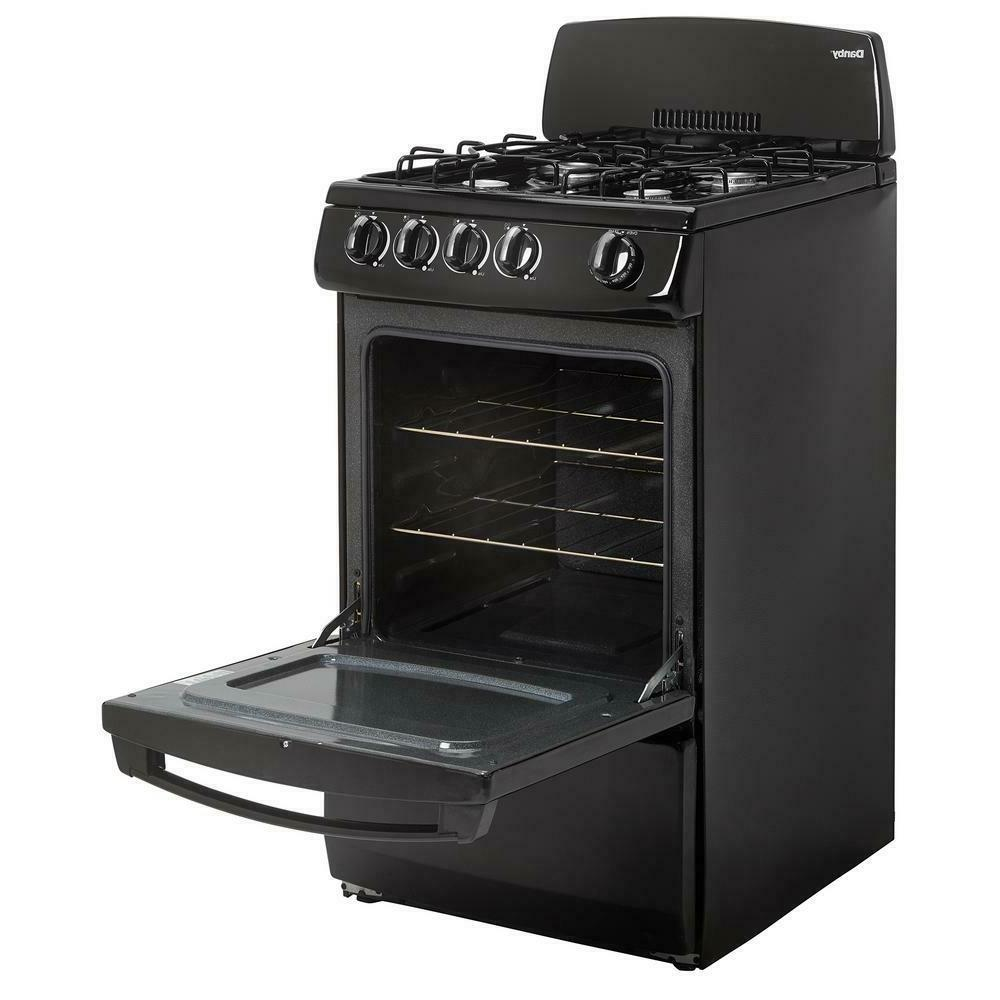 20 gas range comes in black or