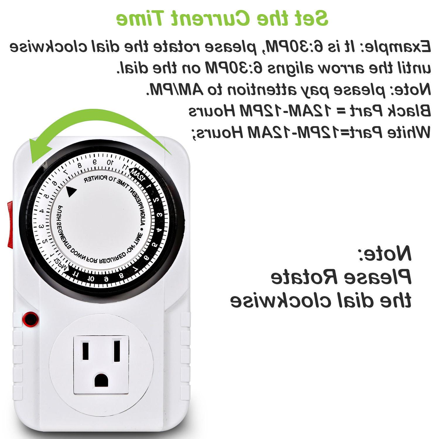 24-Hour Plug-In Timer for Light Appliance