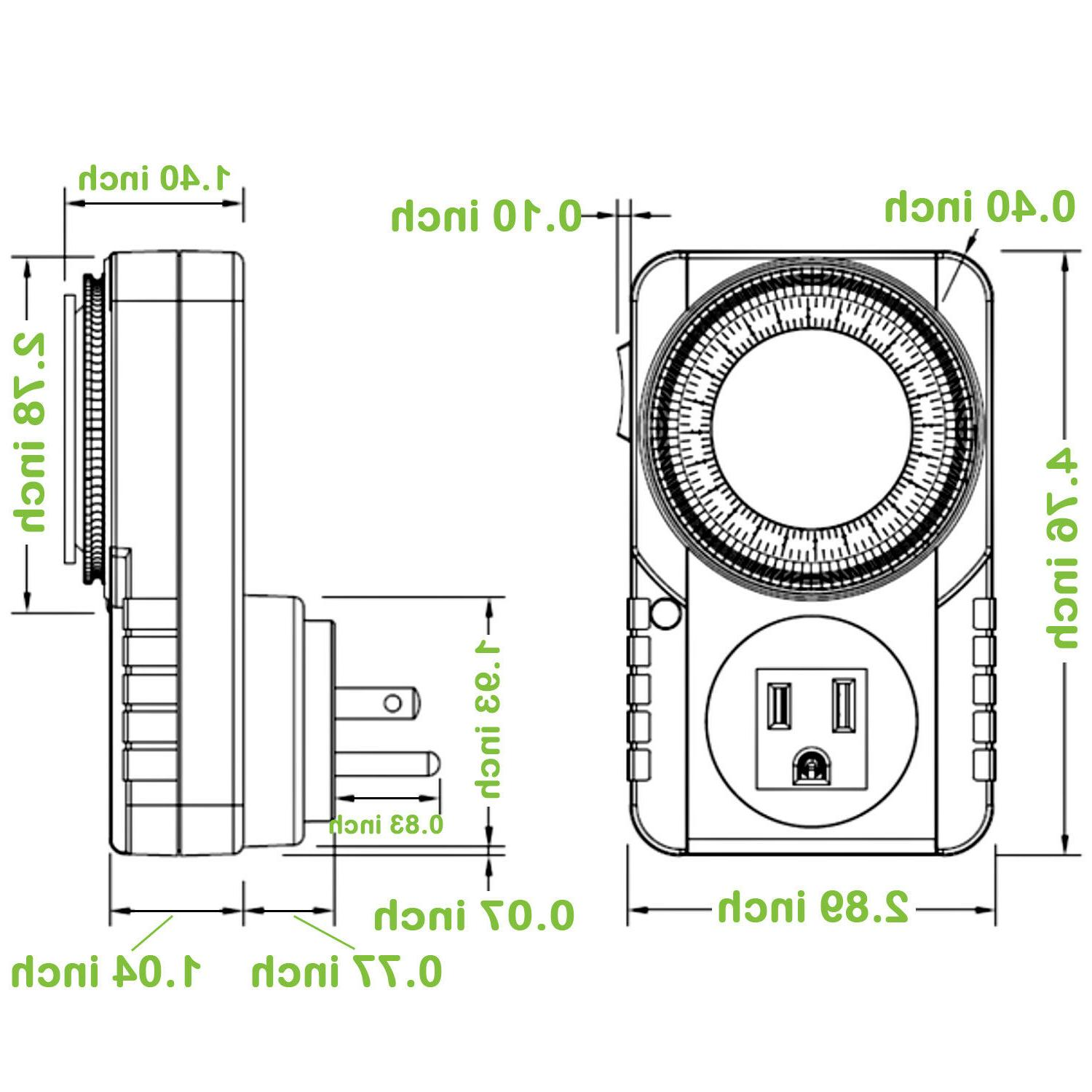 24-Hour Timer Switch for Light Home Appliance