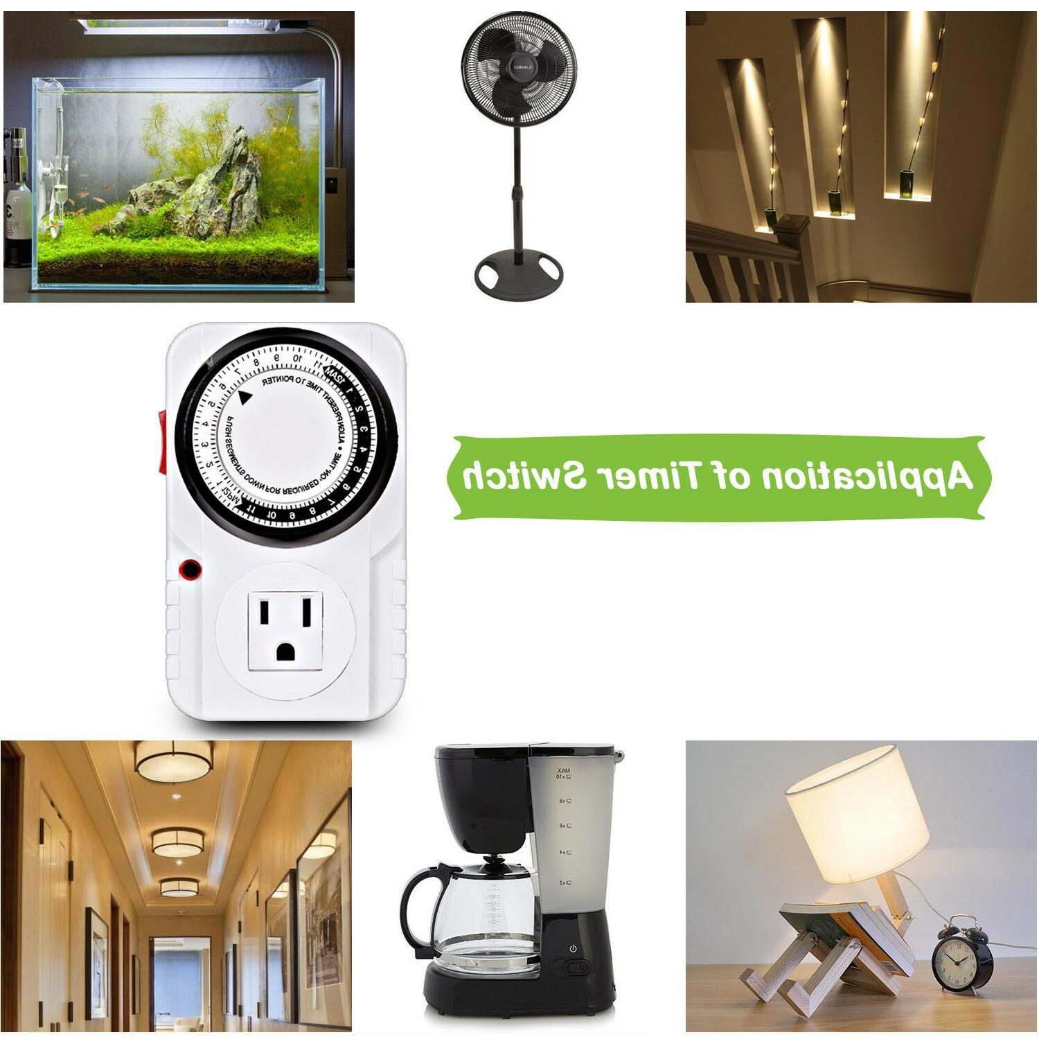 24-Hour Indoor Plug-In Timer Switch for Light