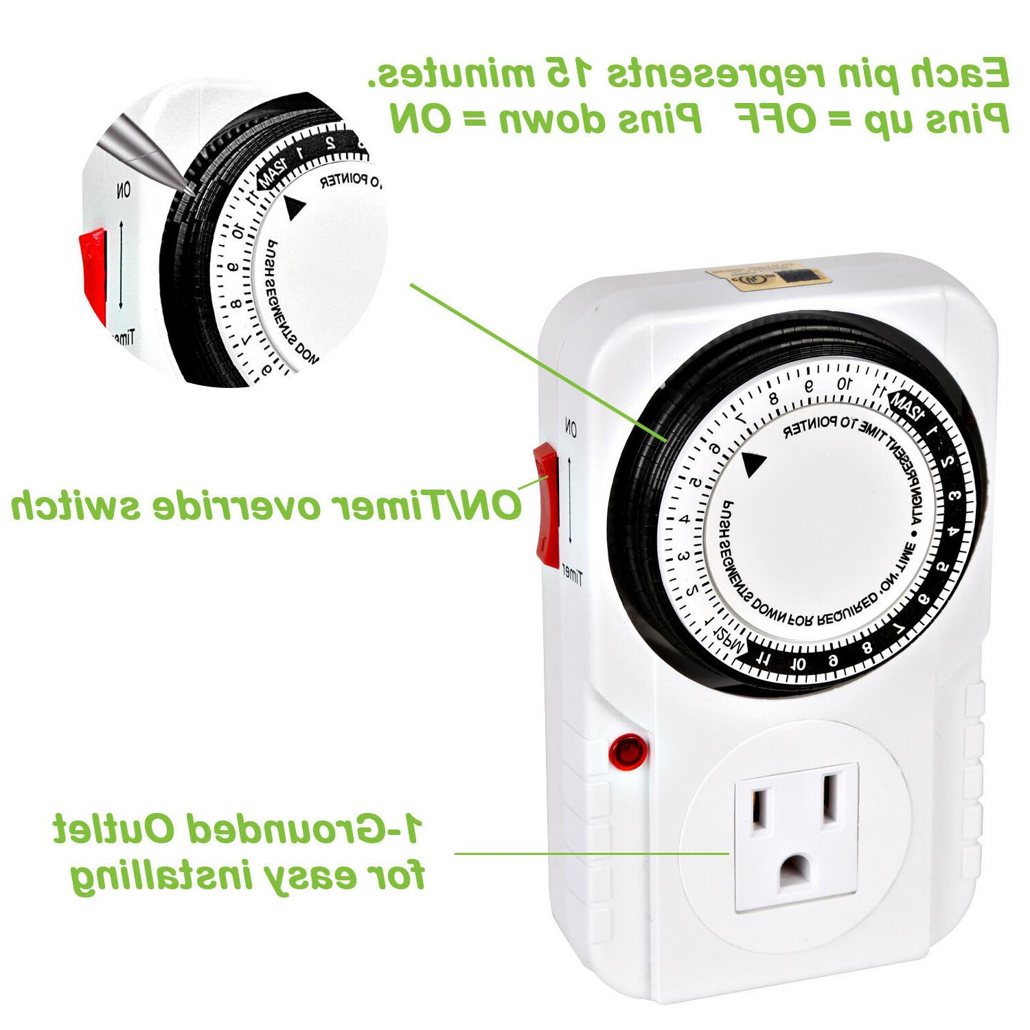 24-Hour outlet Timer Switch Light