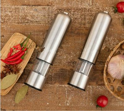 2pcs Mill Steel Kitchen Shaker