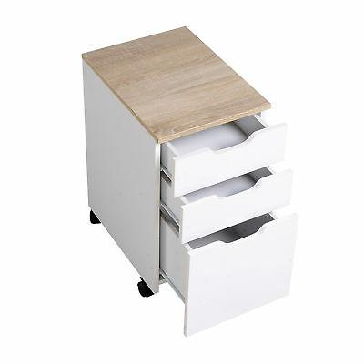 """3-Drawer Rolling Filing Cabinet File Organizer Home Office 13x18"""""""