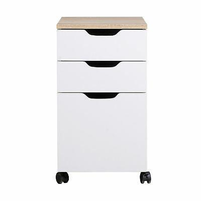 3-Drawer File Storage Home Office White
