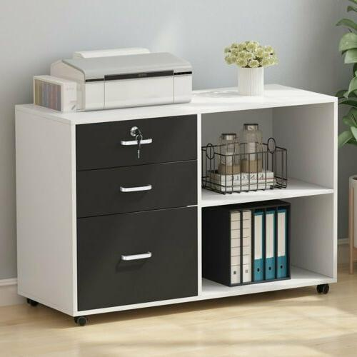 File Cabinet Modern Office Lateral Cabinet