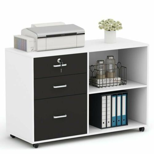 Tribesigns Drawers Wood File Cabinet Modern Home Office Mobile