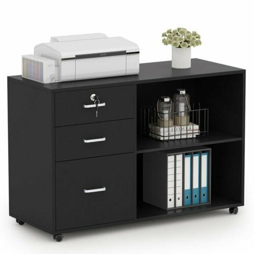 Tribesigns 3 Drawers Wood File Cabinet Modern Home Office La