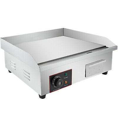 "3000W 22"" Commercial Electric Countertop Griddle Flat Top Gr"