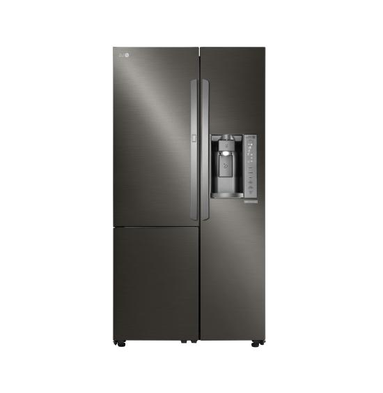 36 inch side by side refrigerator black