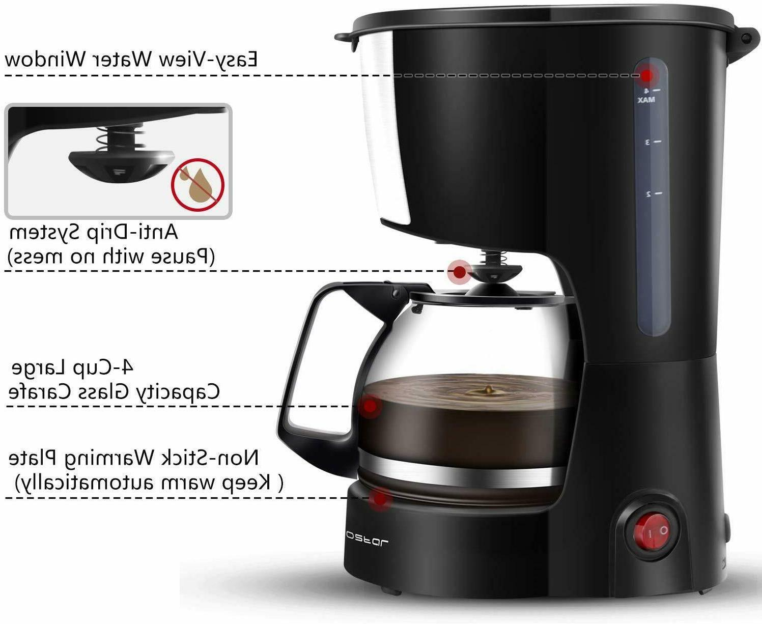 4 Cup Coffee Maker with Coffee Travel