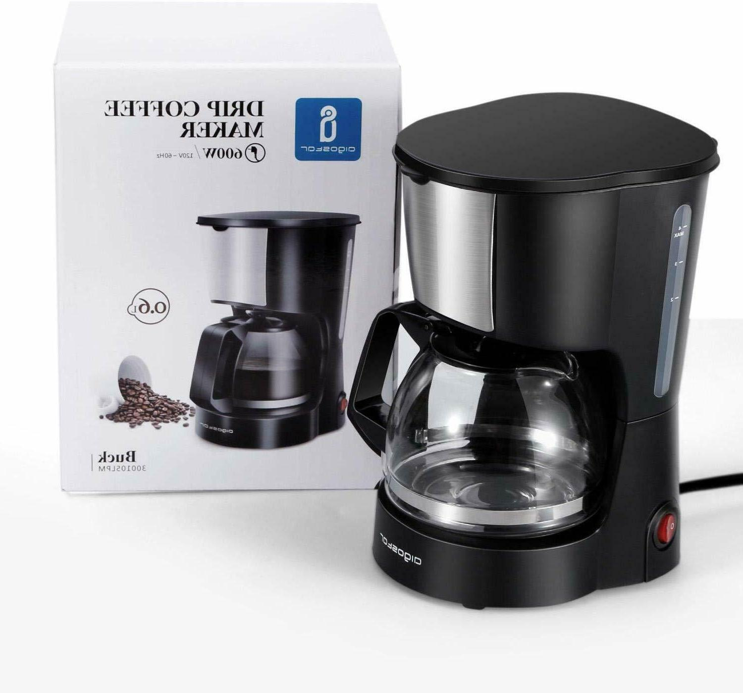 4 Coffee Maker with Coffee and Carafe for Travel