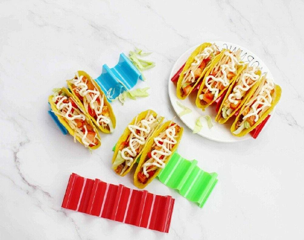 4 Pcs Taco Mexican Wave Hard Rack Cooking