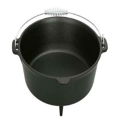 5 quart Dutch Oven Lid Seasoned Iron Pot Bake Stew Quality