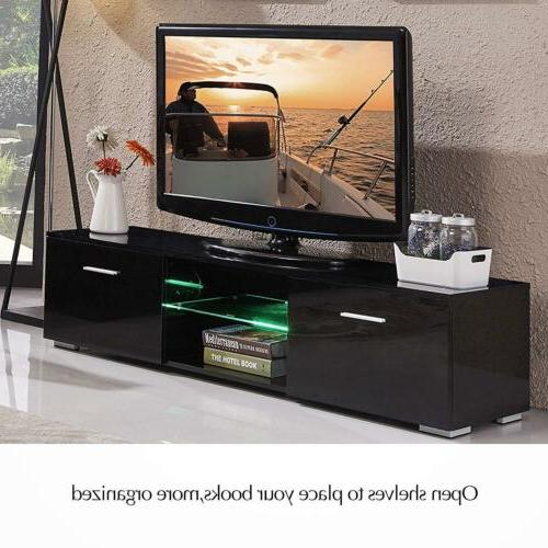 63 tv stand high gloss unit cabinet