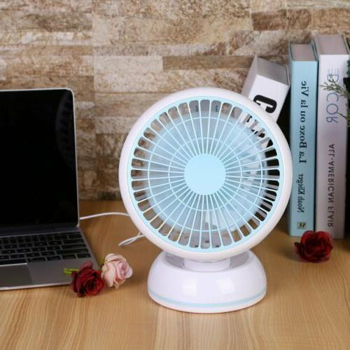Portable Super Quiet USB Desk Fan Home Office Electric Compu