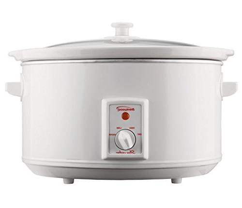 Brentwood - SC-165W 8 qt. Slow Cooker - White by Brentwood A