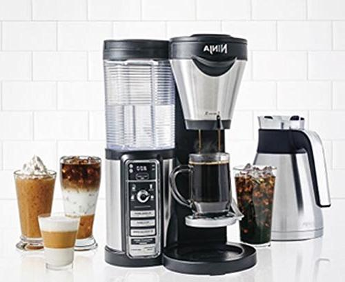 Ninja Maker Hot/Iced Coffee with Brew Auto-iQ, Milk 43oz Carafe, Tumbler and Recipes