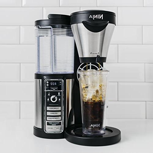 Ninja Coffee Maker Hot/Iced with Brew Programmable Milk Carafe, Tumbler and 100 Recipes