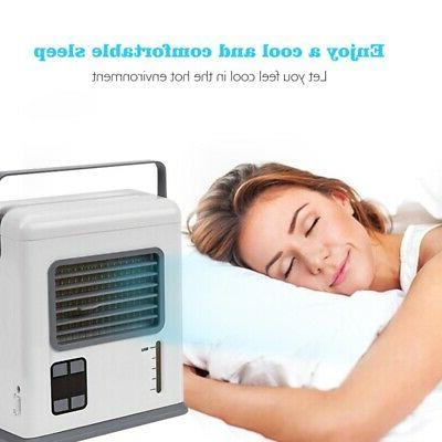 Portable Small Air Cooler USB Powered Battery Quiet Humidifi