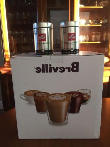 bambino plus bes500bss 2 cans illy espresso