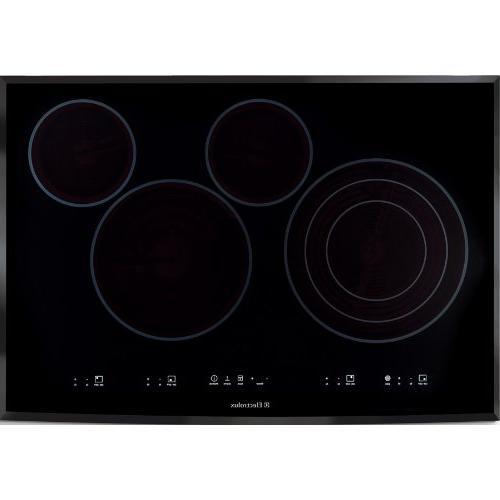 """Electrolux 30"""" 30 Inch Black Electric Smoothtop Cooktop with"""