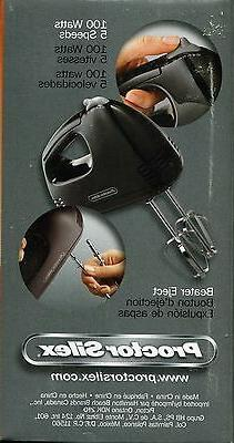 Proctor Silex Black Hand Held Small Appliance Electric Mixer