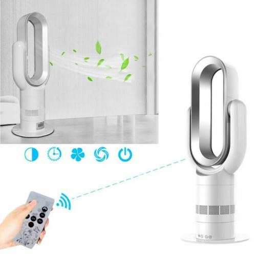 bladeless fan remote control hot cool air