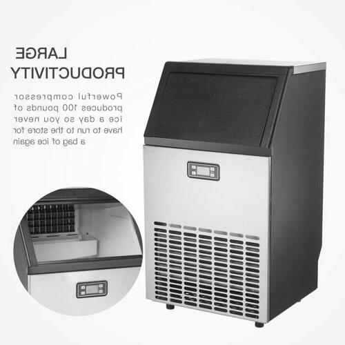 Stainless Steel Bar Ice Cube Machine