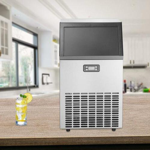 Built-in Commercial Ice Maker Stainless Bar Ice Cube Machine