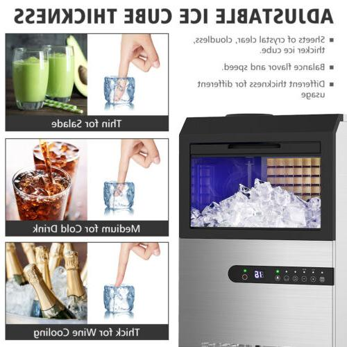 Built-in Ice Commercial Stainless Ice Cube Maker