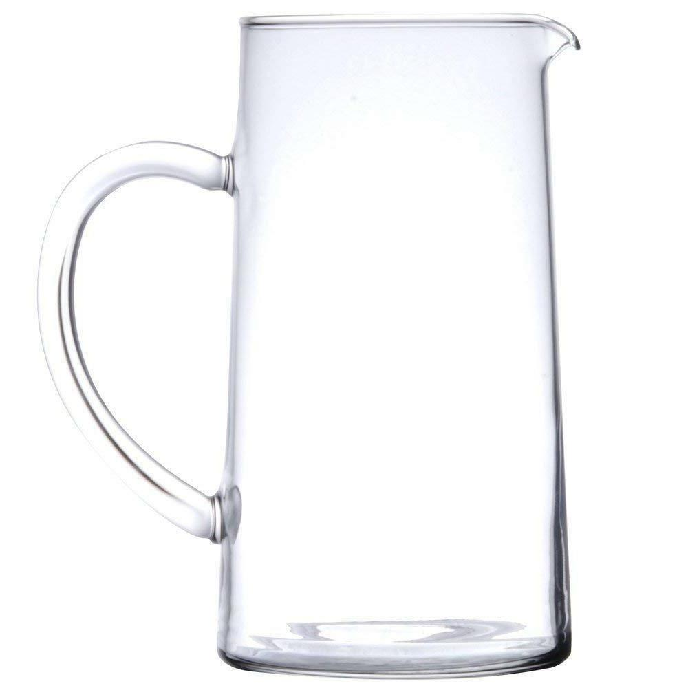 Clear Glass Pitcher 44oz Juice Water Drink Container Carafe