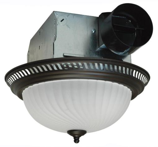 Ceiling Bathroom Exhaust Bath Fan with Light 70 CFM Quiet Ve