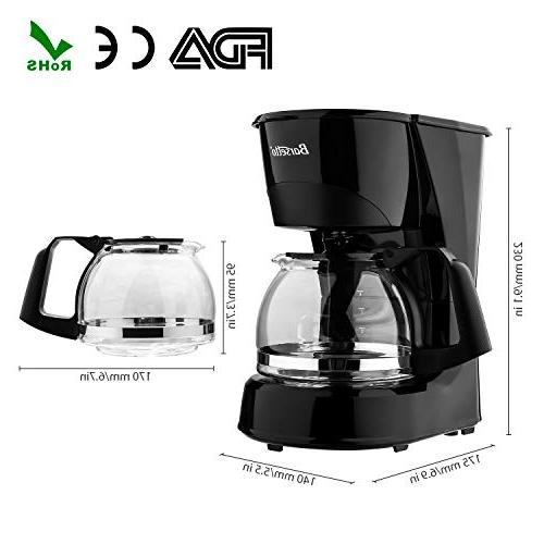 Coffee Barsetto Cup Coffee Machine Silent Operation Drip with Filter for Home