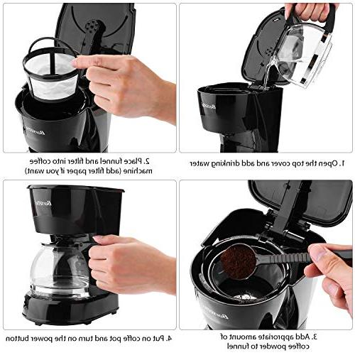 Coffee Cup Coffee Silent Operation with Coffee Pot Filter for