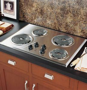 coil electric cooktop stainless steel