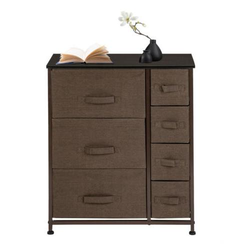 Dresser with 7 Drawers - Storage Tower Unit for Bedroom, Hal