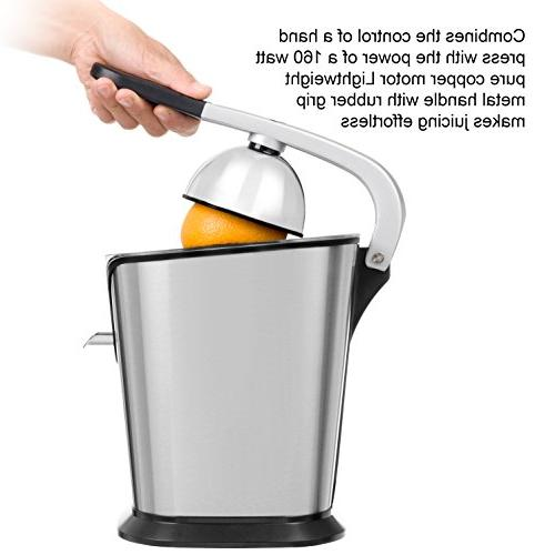 Electric Citrus Juicer   160-Watt Stainless by