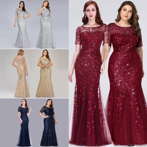 Ever-pretty Plus Women Sleeve Evening Gowns Bridesmaid Party