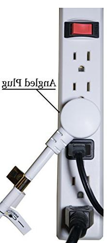 Barium Electric Extension Cord White 15 foot | 3 Outlets 16 AWG | 120 - Electronics, Appliances, 3 w/