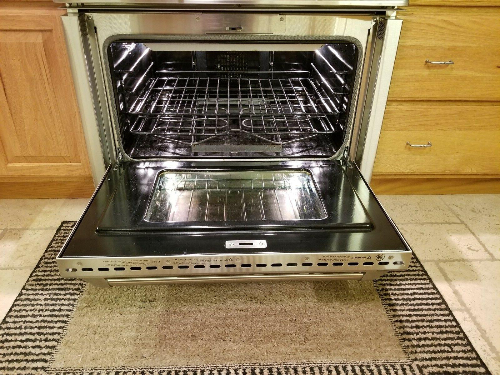 """GE 36"""" PRO-STYLE DUAL GRILL STEEL"""