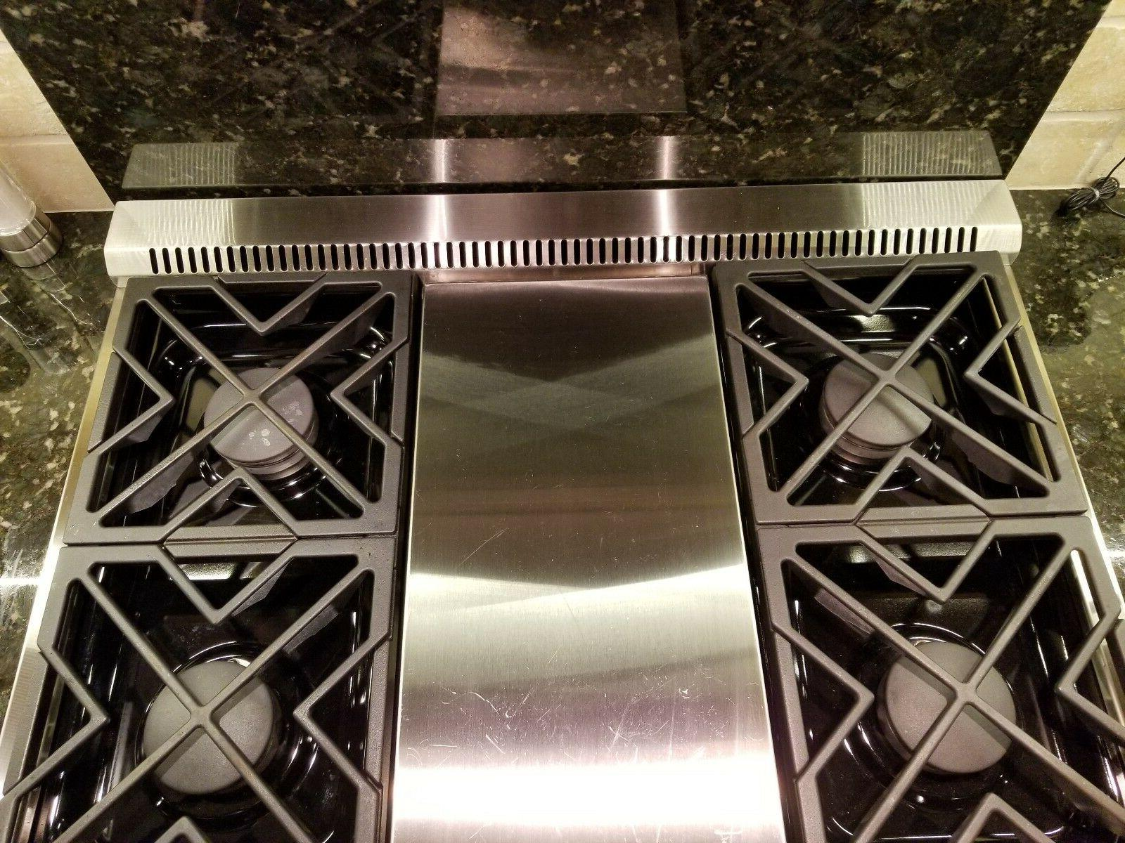 GE MONOGRAM PRO-STYLE DUAL FUEL with GRILL STAINLESS