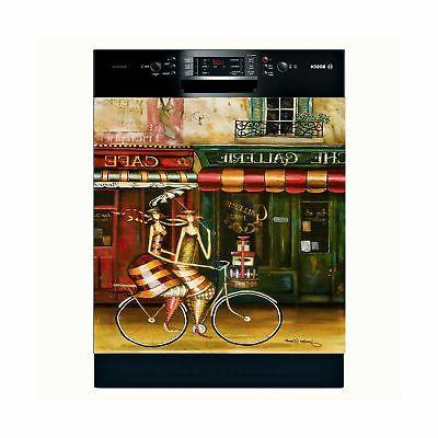 Girlfriends in Paris Dishwasher Magnet Cover