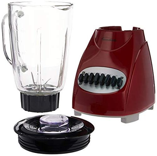 Brentwood Appliances JB-920R 12-Speed Blender with Plastic Jar ,