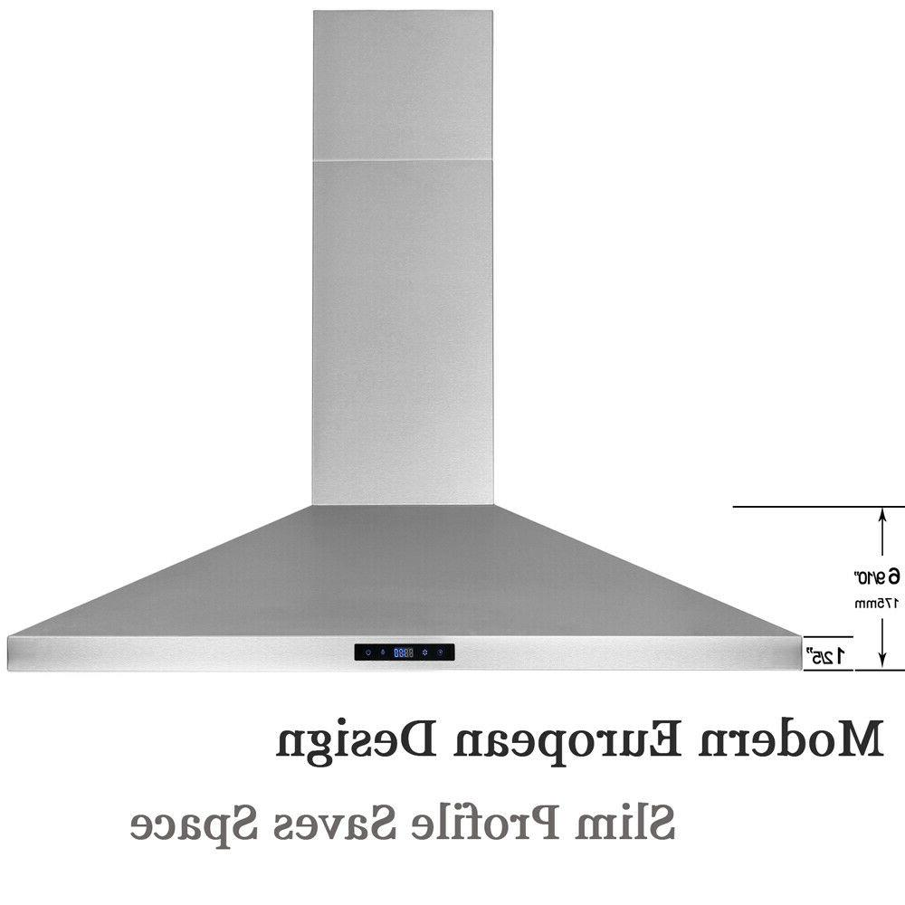 30'' Wall Mount Kitchen Range Hood LED Touch Control Timer C