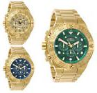 Invicta Men's Pro Diver Quartz Chrono 100m Gold Tone Stainle